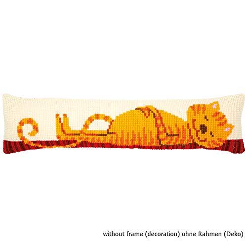 Vervaco PN-0173047 - Paraspifferi Predefinito A Punto Croce, Motivo: Gatto Rosso, In Cotone, Multicolore 80 X 20 Cm / 32\