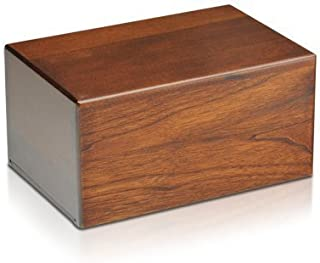 Indian Glance Wooden Urn Box - Urn for Human Ashes Funeral Cremation Urn(Large)
