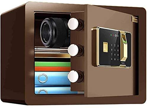 HDZWW Small Safes for Home Personal Safe Cabinet Safes Urglary Digital Security Safe Box Fingerprint Electronic Password Safe