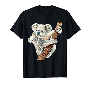 Cute Koala Bear and Baby Realistic Watercolor T-Shirt