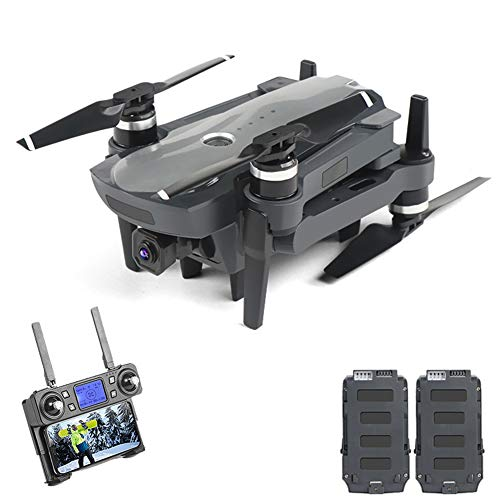 poi GPS Drone with 4K UHD 50X Zoom Camera, 5G WiFi FPV Live Video UAV with Brushless Motor, RC Distance 1800M, Dual Battery, Best Gift for Adults & Kids(with Case)