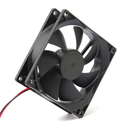 JPVGIA Llegada 90mm / 90x90x25mm Cooler Computer PC CPU Caja de enfriamiento silencioso Black