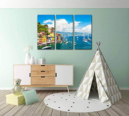 sea coast in portofino italy liguria stock pictures royalty free Print Painting 3 Panel Home Decoration Paintings Wall Art Framework Canvas Prints Gallery for Living Room Wall Poster Hang Framed