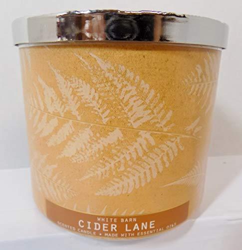 White Barn 2020 Cider Lane (Caramel, Granny Smith Apples, Dark Brown Sugar, Clove) Made W Essential Oils 3 Wick 14.5 oz