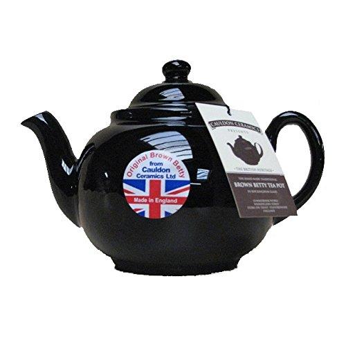 """Capacity """"Brown Betty""""-Teekanne für 4Tassen in traditionellem Rockingham-Braun, handgefertigt"""
