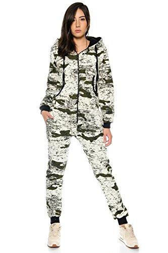 Crazy Age Jumpsuit Army Camouflage Tarnfarben Batik CA 2820 (Khaki, M) - 2