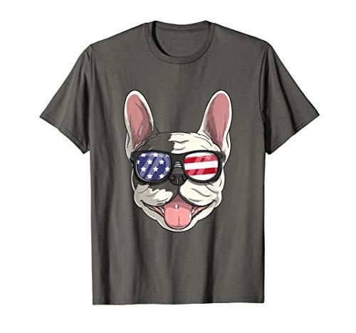 French Bulldog Dog USA 4th of July American Frenchie T-Shirt