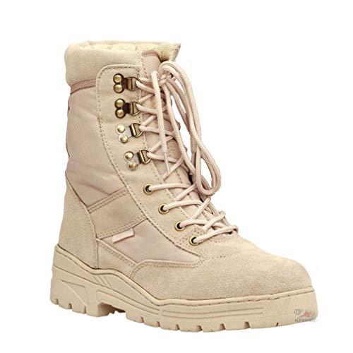 Copytec Tropen Einsatz Stiefel Tactical Sniper Springerstiefel Desert Boots #15974, Schuhgröße:43, Farbe:Sand