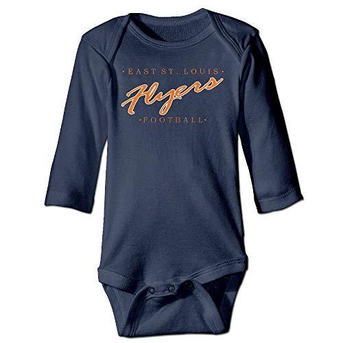 MSGDF Unisex Infant Bodysuits East St Girls Babysuit Long Sleeve Jumpsuit Sunsuit Outfit Navy