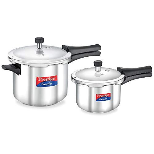 Prestige Stainless Steel Value Pack Pressure Cooker 5 Litre & 2 Litre