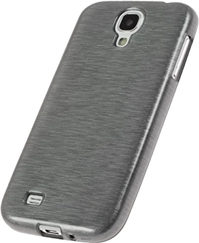 PhoneNatic - Custodia in Silicone per Samsung Galaxy S4 - Brushed Argento