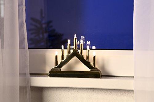 Weihnachtsbeleuchtung 7er Lichterbogen Leuchter gold Dekoration