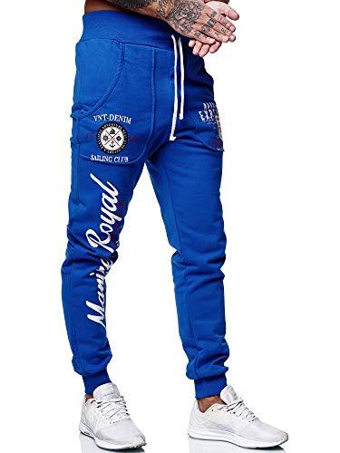 Code47 Herren Jogginghose Sporthose Männer Trainingshose Sweatpants 3628 Blau M