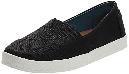 TOMS Black Coated Canvas Womens Classic 10006322 (Size: 6.5)