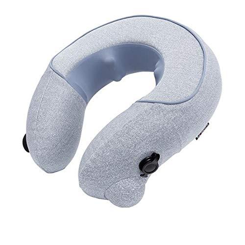 LCY U-Tipo Cuscino per Massaggio Ad Aria Strumento di Massaggio Cervicale Portatile Gonfiabile Collo Massaggiatore Un Pulsante Inizio 20 Minuti di Temporizzazione