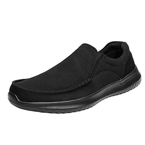 Bruno Marc Hombre Zapatillas de Deporte Ligero Zapatos Casuales Malla Deportivos Aire Libre para Caminar DOCKEY Todo Negro 42 EU/9 US