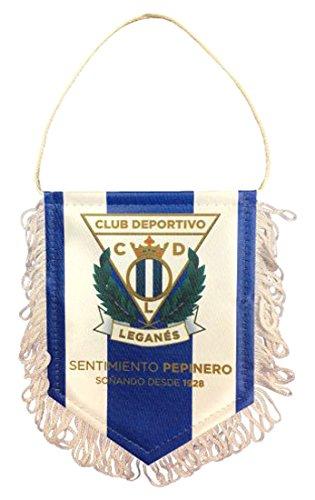 CD Leganés banleg wimpelketting, wit/blauw, 15 x 11 cm