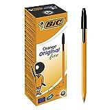 BIC Orange Original Stylos-Bille Pointe Fine - Noir, Boîte de 20