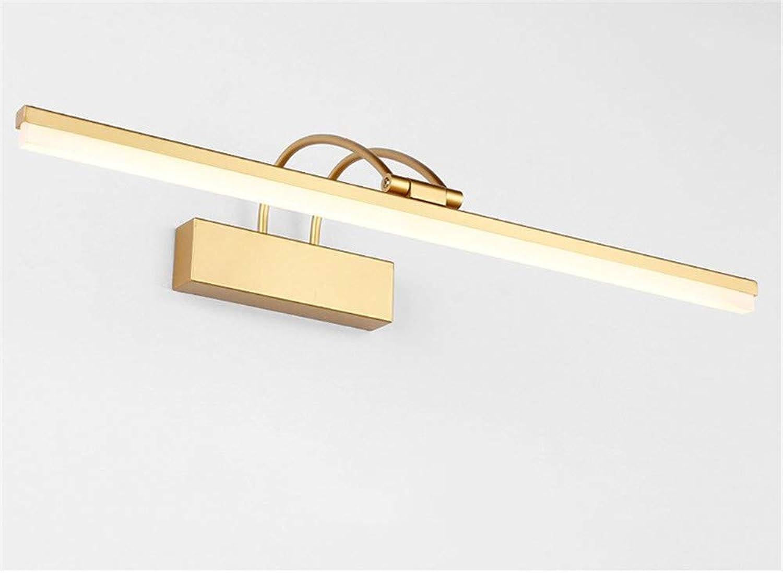 Neue Goldene Spiegelscheinwerfer f¨1hrten einfache moderne Badezimmerschwarzfernspiegelschranklichthotelspiegelbeleuchtung, 71cm Gold, warmes Licht