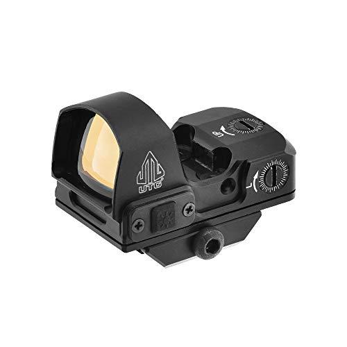 UTG Reflex Micro Dot, Red 4 MOA Single Dot, Adaptive Base, Black