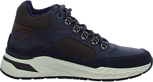 s.Oliver Herren Stiefel 15220-23, Männer Schnürstiefel, kurz-Stiefel top Sneaker Sportschuhe schnürung Herren Maenner Men,Navy Comb,42 EU / 8 UK