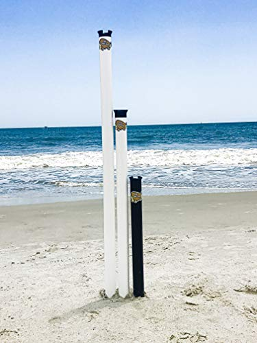 Sand Flea Surf Fishing Rod Holder Beach Sand Spike. 2, 3 or 4 Foot Lengths. Made from Impact and UV Resistant PVC. 100% USA Made. (Black, 3)