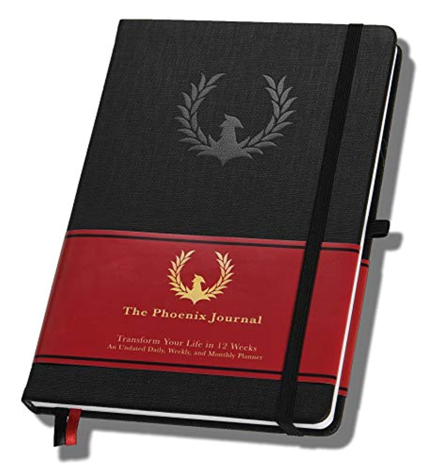 The Phoenix Journal - Best Daily Planner & Calendar for Gratitude, Goal Setting, and Boosting Happiness & Productivity - Transform Your Life - 12 Weeks, Undated, Hardcover - 1 Year Return Guarantee