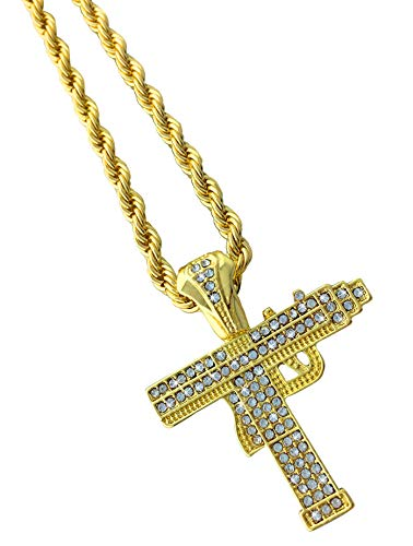 Diamond Weapon Pendant Necklace with 24
