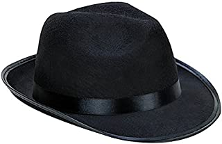 Black Fedora Gangster Hat