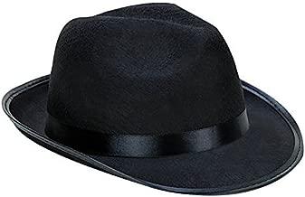 Kangaroo Black Fedora Gangster Hat