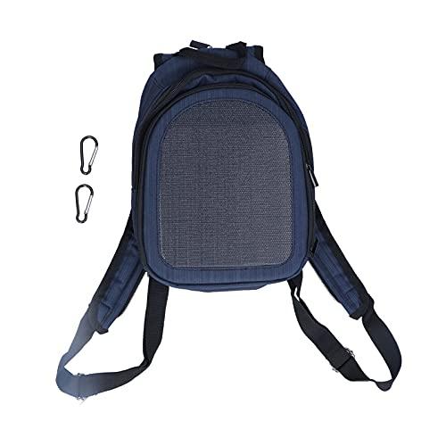 Surebuy Solar-Rucksack, USB-Ausgangsanschluss Solar-Rucksack mit Power Bank-Portabilität für Outdoor für Reisende für Reisen