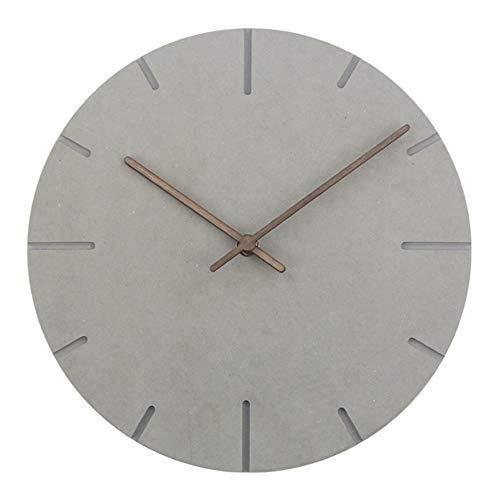 reloj de pared ZXY Americana Sala de Estar Minimalista Moderna de Pared Creativo del Arte de la Personalidad del hogar del Reloj Restaurante Mudo Reloj de pared-10.24