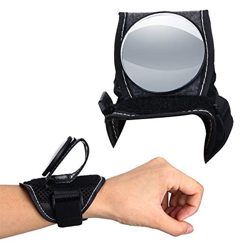 Bike Wrist Mirror, 360 Degree Rotate Portable Wearable Bike Rear View Mirror Adjustable Wrist Wear Bicycle Mirror for Cyclists Mountain Road Bike Riding