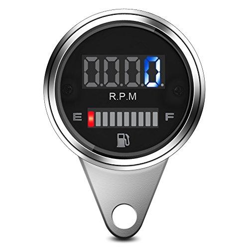 2 en 1 Motocicleta Digital LED Velocímetro Tacómetro Medidor de combustible de aceite universal para moto 12V