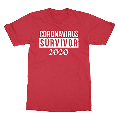Sheki Apparel New Graphic Survivor Coronavirus 2020 Boys Girls Youth T-Shirt (Red, Youth X-Large)