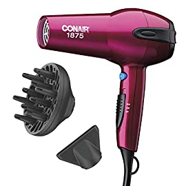 Conair 1875 Watt Ionic Ceramic Fast Drying Lightweight Hair Dryer  - 41CDzXSZ0qL - Conair 1875 Watt Ionic Ceramic Fast Drying Lightweight Hair Dryer Includes Diffuser and Concentrator Pink Hair Dryer yourhair - 41CDzXSZ0qL - Home