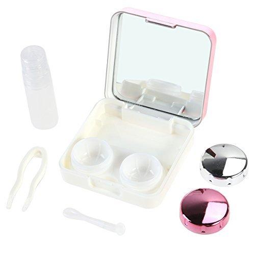 Rosenice Reise-Set für Kontaktlinsen, Rosarot