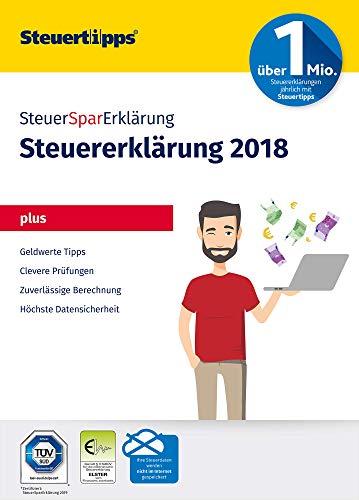 SteuerSparErklärung Plus 2019, Schritt-für-Schritt Steuersoftware für die Steuererklärung 2018, Aktivierungscode per Mail für Windows 10, 8, 7