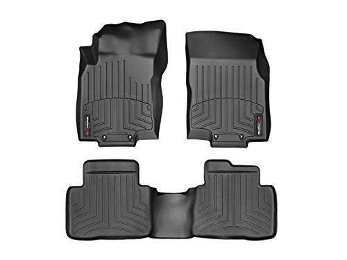 WeahterTech Custom FloorLiner for 2014-2019 Nissan Rogue - 1st & 2nd Row (Black)