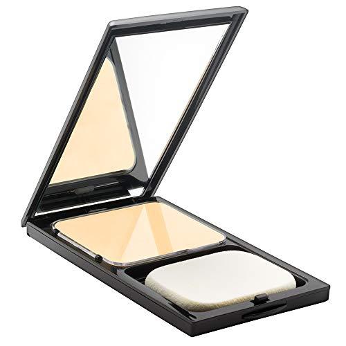 Poudre pour le visage Buttercup compact par Sacha Cosmetics. Absorbe l'huile et élimine la brillance pendant des heures. Poudre pressée mate pour tous les tons de peau, 0,45 oz
