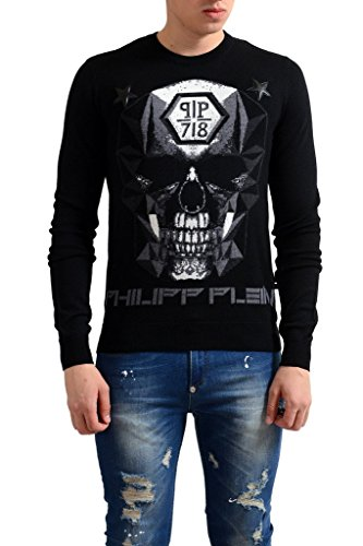 Philipp Plein Homme Limited Edition 100% Wool Men's Crewneck Sweater US S IT 48;