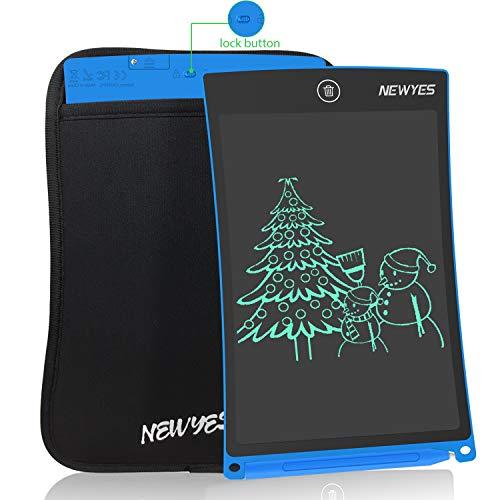 """NEWYES 8,5"""" Tableta de Escritura LCD, Tableta Gráfica, Tableta de Dibujo portátil, Adecuada para el hogar, Escuela u Oficina, con Funda (Azul)"""