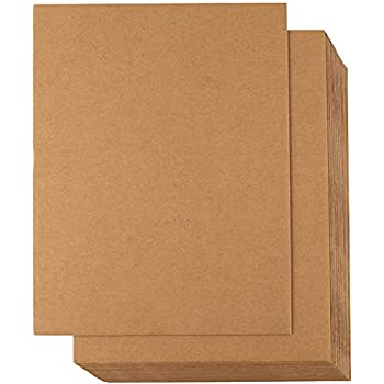 24 Sheets Corrugated Cardboard Inserts for Packing Mailing Crafts  Kraft Brown 8.5x11