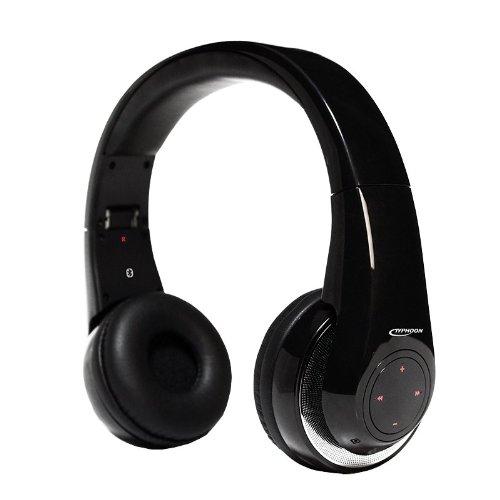 Typhoon TM003 Delight3D Stereo-Kopfhörer mit NFC Funktion (Bluetooth 4.0 mit EDR, 90dB) schwarz
