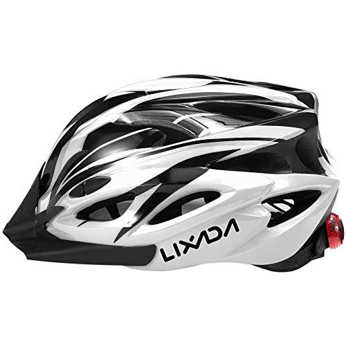 Lixada Casco de Bicicleta Ligero con Visera y Luz LED En Molde...