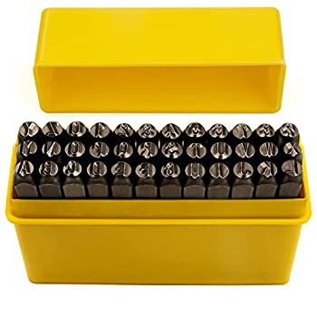 36-Piece Letter and Number Punch Set Chrome Vanadium Steel | Include A-Z & 0-9 | Perfect Stamping and Imprinting Tool on Metal Wood Leather Plastic for Arts Jewelry Hobby Crafts and More