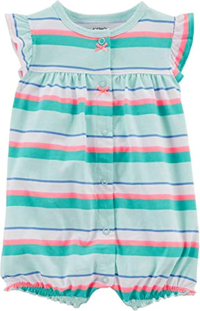 Carter's Baby Girls Snap-up Cotton Romper (Crab