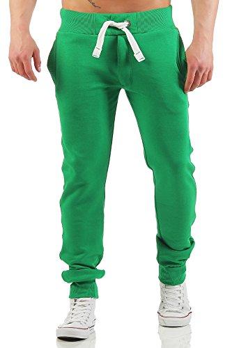 Happy Clothing Herren Jogginghose mit Reißverschluss Slim Fit, Größe:M, Farbe:Grün