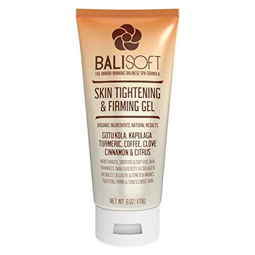 BALISOFT Organic Skin Tightening & Firming Gel. Full Body Slimming, Toning, Anti-Aging, Cellulite, Wrinkle & Stretch Mark Treatment. Crepey, Sagging & Loose Skin Moisturizing Cream. Non Greasy Gel