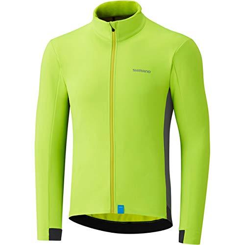 SHIMANO Maglia da Ciclismo Madison, Wind Yellow, S